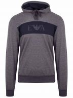 Grey & Navy Eagle Hooded Tracksuit