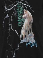 Black Wolf Lightening T-Shirt
