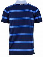 Navy Striped Rugger Polo Shirt