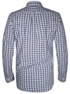 Dark Indigo Check Long-Sleeve Shirt