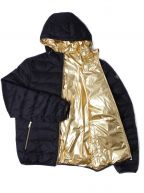 Down Filled Navy & Gold Reversible Jacket