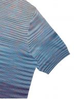 Blue & Red Space-Dyed Stripe T-Shirt