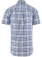 Blue Short Sleeve 2 Colour Shirt