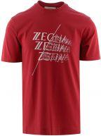 Red Logo Overlap Print T-Shirt