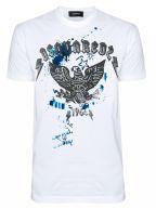 Eagle Print Logo White T-Shirt