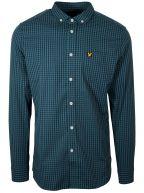 Green & Navy Gingham Long-Sleeve Shirt