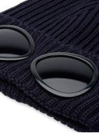 Navy Goggle Beanie Wool Hat