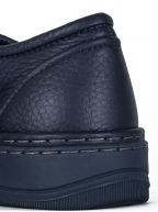 Blue Grained Bull Calfskin Low Sneaker