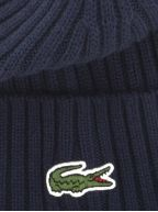 Navy Ribbed Wool Beanie