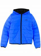 Blue & Black Down Filled Reversible Jacket
