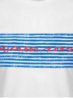 White Marker Printed Logo T-Shirt