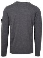Grey Round Neck Wool Jumper