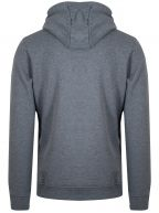 Mid Grey Marl Zip Through Hoodie