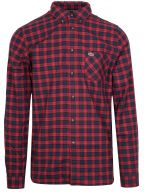 Regular Fit Long-Sleeved Red & Navy Check Shirt