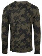 Khaki Printed Long Sleeve T-Shirt