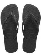 Black Top Flip Flops