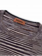 Space-Dyed Navy & Brown Stripe Knit T-Shirt