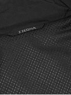 Black Hooded Windbreaker Jacket