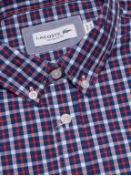 Regular Fitting Navy Long-Sleeved Check Shirt