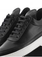 Black Low Top Ripple Nappa Sneaker