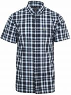 Regular Fit Navy Short-Sleeved Checked Shirt