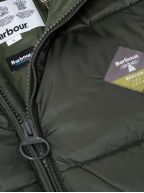 Ross Quilt Khaki Fibre-Down Jacket