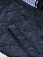 Evening Blue Quilted Windcheater Jacket
