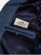2-Button Denim Blue Wool Blazer
