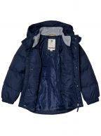 Navy Blue Hooded Bubble Jacket