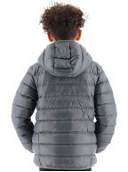 Grey Down Filled Hooded Jacket