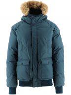 Pyrenex Teal Blue Down Fur Lined Mistral Jacket