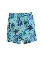 Lagoon Blue Paint Splash Jim Swim Short