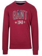 Burgundy Logo Round Neck Sweatshirt