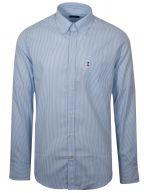 Shark Fit Blue Striped Long Sleeve Shirt