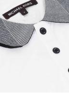Contrast Collar White Polo Shirt