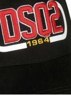 Black DSQ2 Patch Embroidered Cap