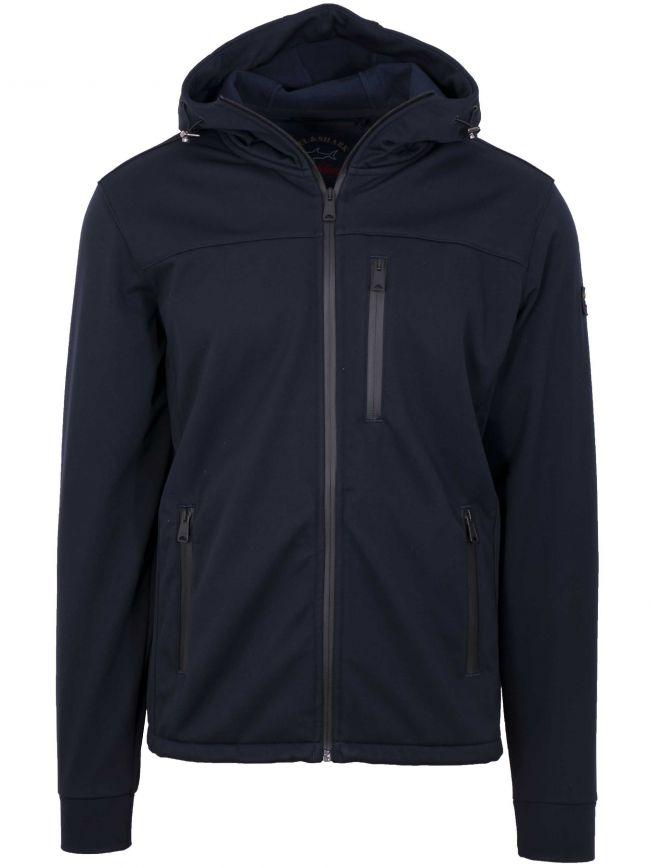 Navy Blue Soft-Shell Jacket