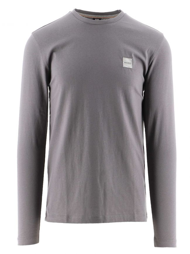 Grey Long Sleeved Organic Cotton Tacks 1 T-Shirt