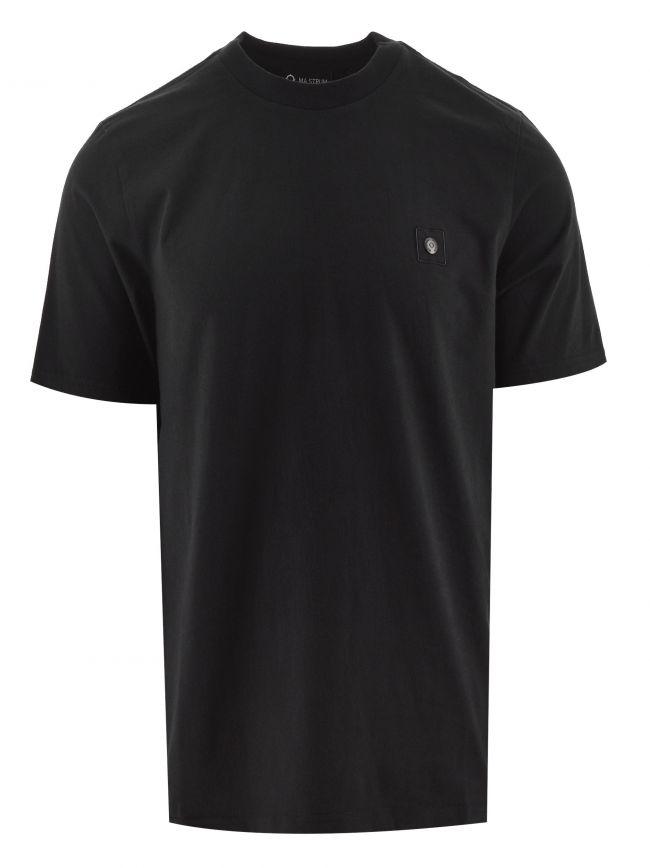 Jet Black Short Sleeved Snap T Shirt
