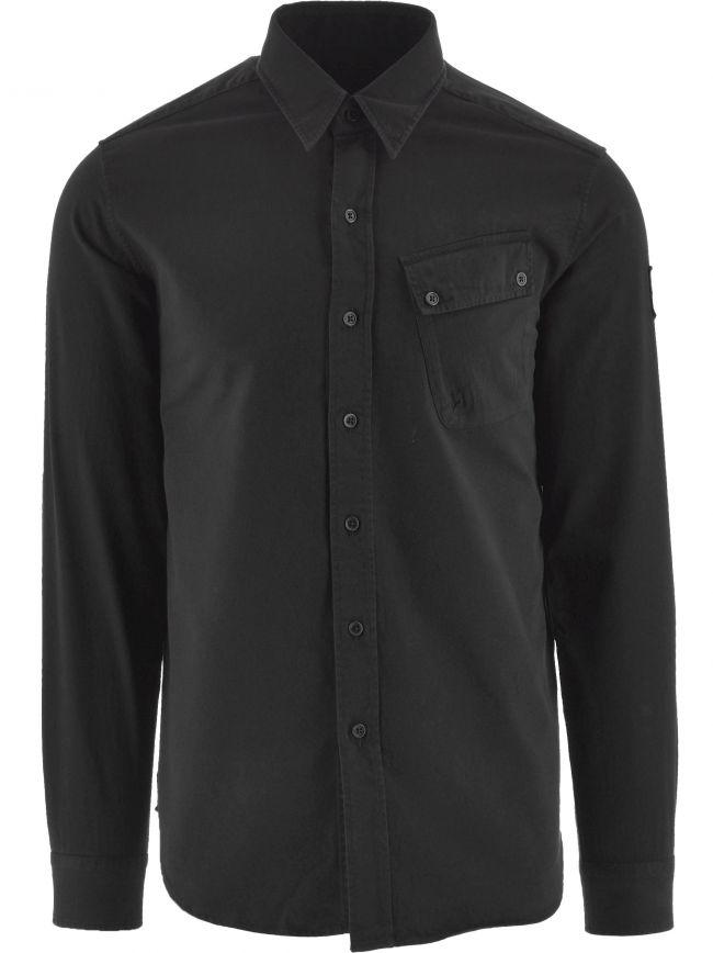 Black Pitch Twill Shirt