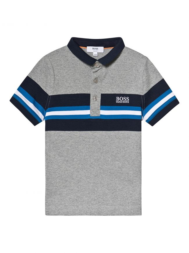 Grey Jersey Cotton Polo Shirt