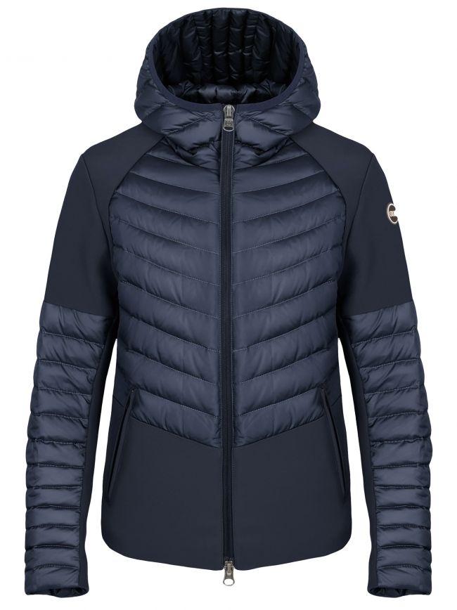 Navy Down Padded & Neoprene Soft Shell Jacket