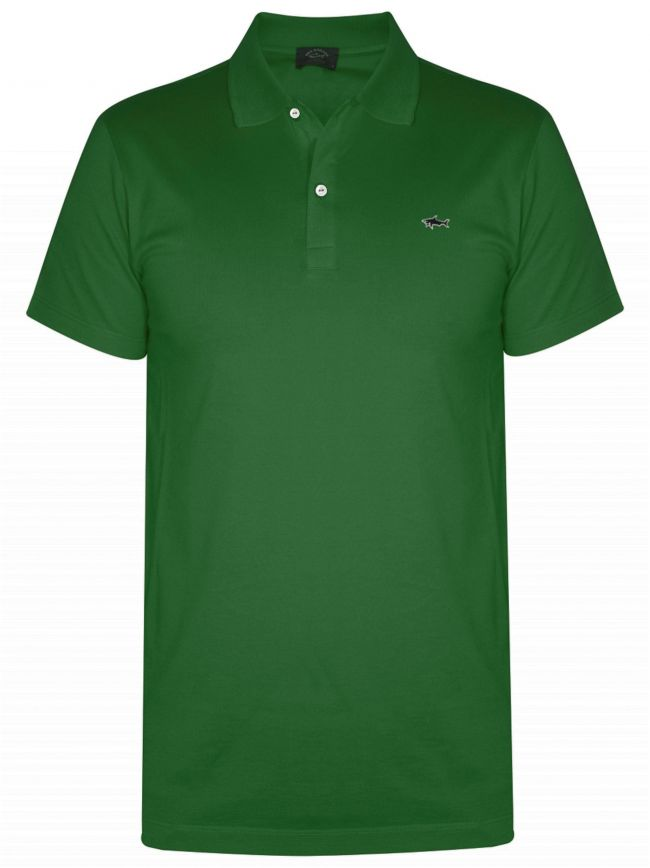 Shark Logo Green Polo Shirt