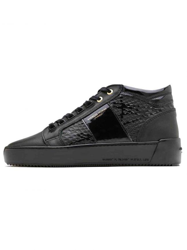 Black Gloss Viper Propulsion Mid Sneaker