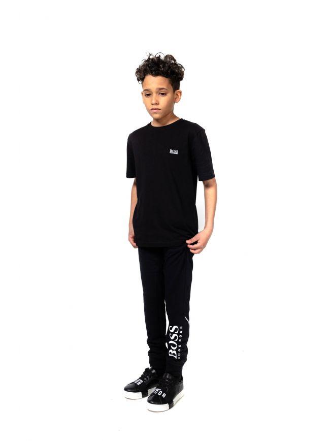 BOSS Kids Black Short Sleeve T Shirt
