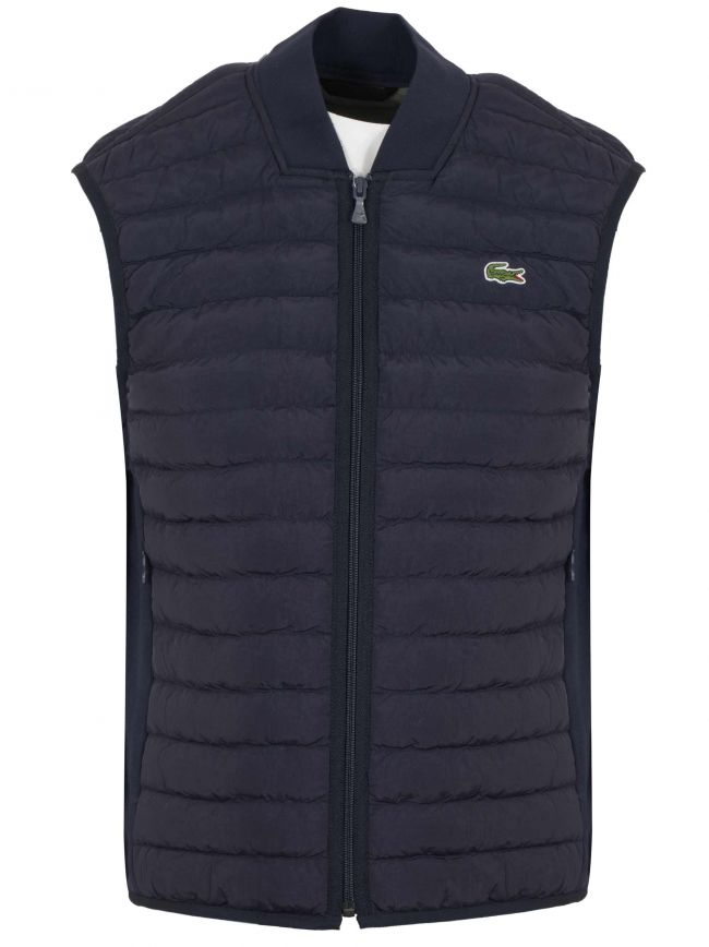 Navy Blue Quilted Gilet