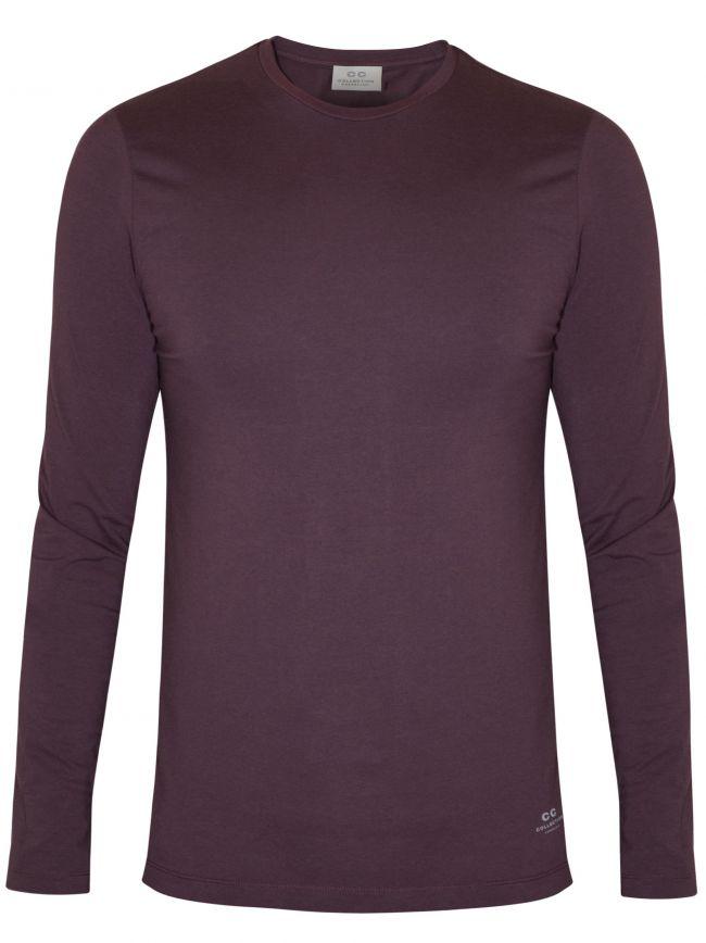 Burgundy Long Sleeve Jersey T-Shirt