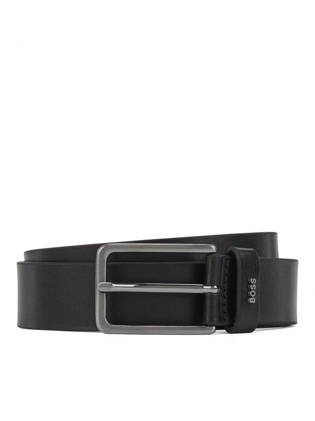 Black Leather Calis Belt