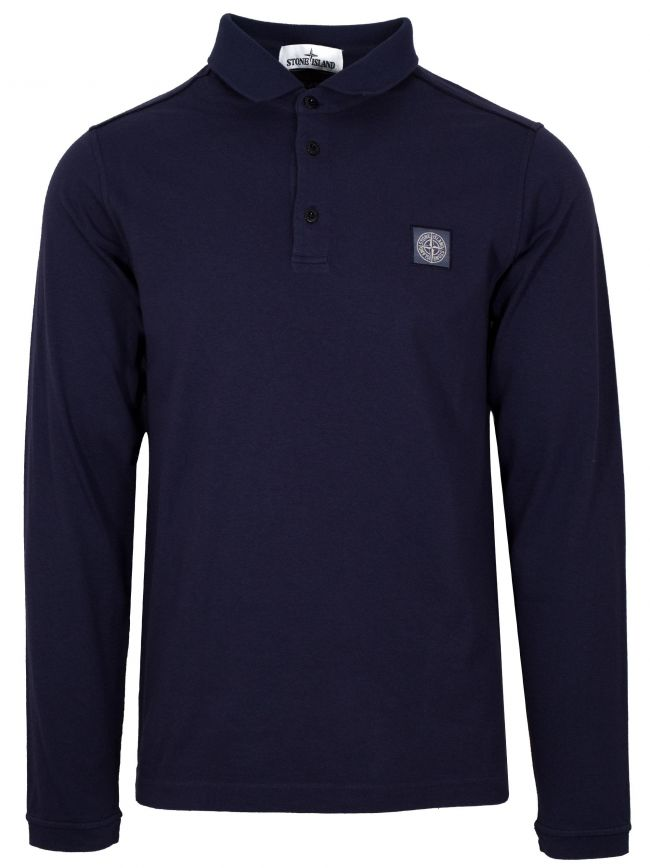 Navy Garment-Dyed Polo Shirt