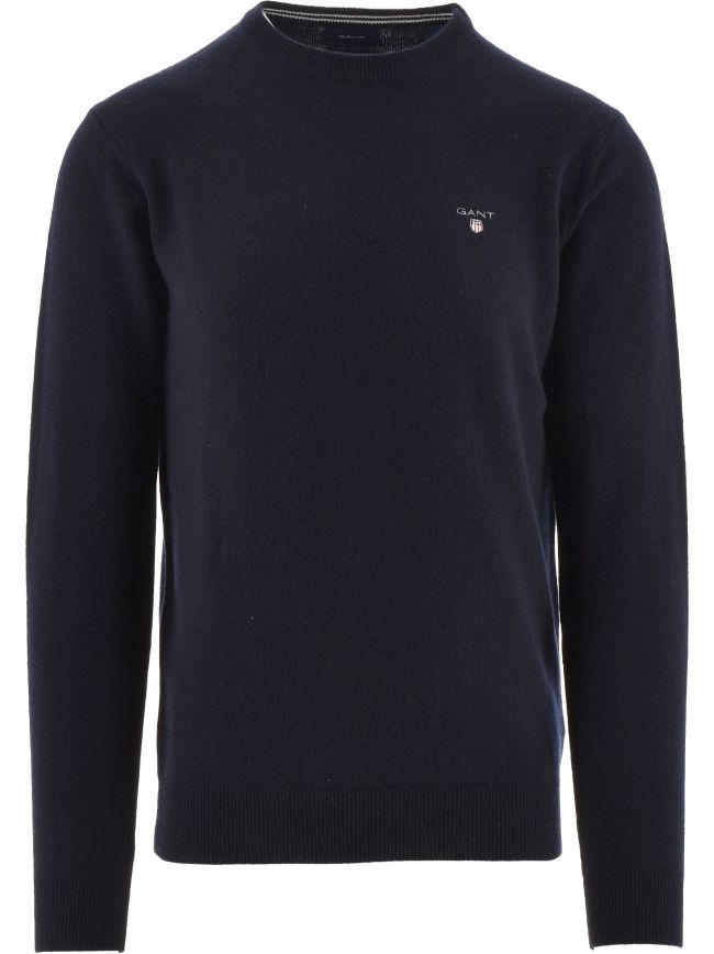 Superfine Lambswool Navy Jumper